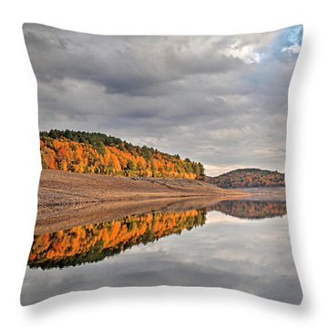 Colebrook Reservoir - In Drought Throw Pillow by Tom Cameron