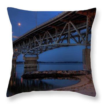 Coleman Bridge Throw Pillow