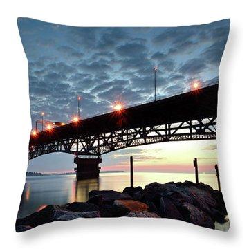 Coleman Bridge Reflections Throw Pillow