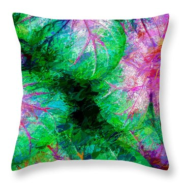 Coleus Throw Pillow by Paul Wear