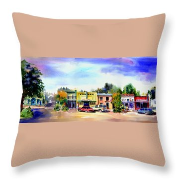 Colfax Main And Church Street Throw Pillow