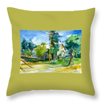Colfax Methodist Church Throw Pillow