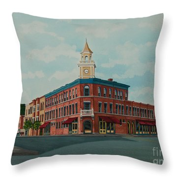 Colgate Bookstore Throw Pillow by Charlotte Blanchard