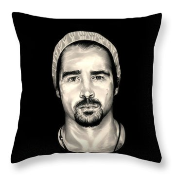 Colin Farrell  Total Recall Throw Pillow by Fred Larucci