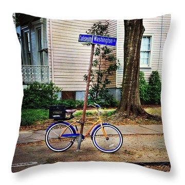 Throw Pillow featuring the photograph Coliseum-washington Bicycle by Craig J Satterlee