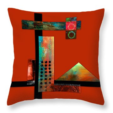 Collage Abstract 1 Throw Pillow