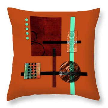 Collage Abstract 10 Throw Pillow