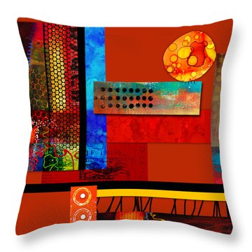 Collage Abstract 2 Throw Pillow