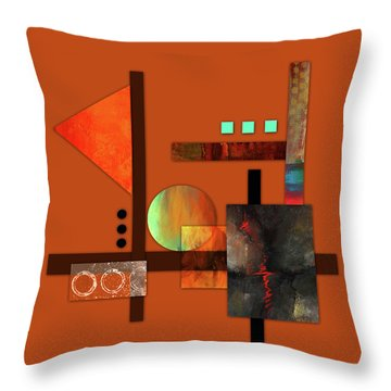 Collage Abstract 9 Throw Pillow