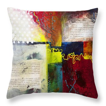 Throw Pillow featuring the painting Collage Art 3 by Patricia Lintner