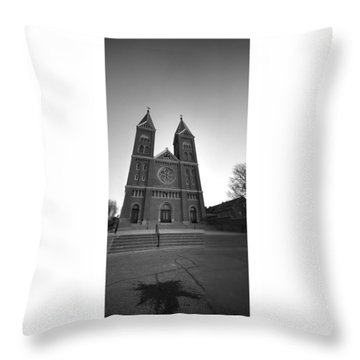 Collage Church Throw Pillow by Dustin Soph