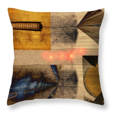 Collage - Cle Airport Throw Pillow