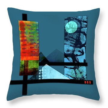 Collage Landscape 1 Throw Pillow
