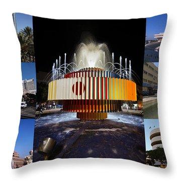 Collage Of Tel Aviv Israel Throw Pillow by Ilan Rosen