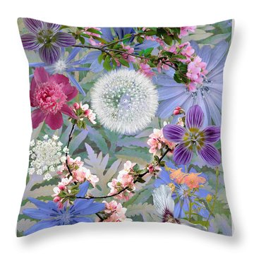 Collage One Throw Pillow by John Selmer Sr