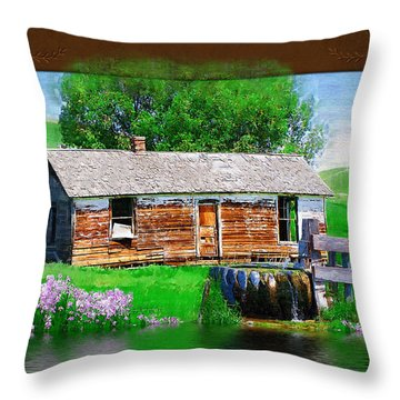 Throw Pillow featuring the photograph Collage by Susan Kinney