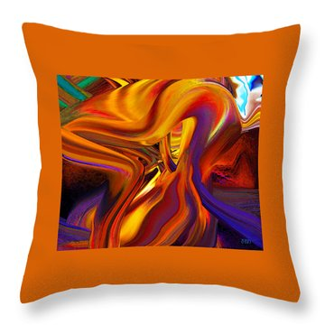 Collapse Throw Pillow
