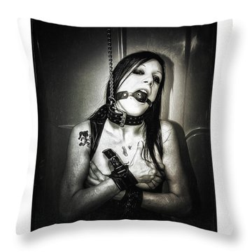 Collared Girl V Throw Pillow by Donald Yenson