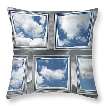 Throw Pillow featuring the digital art Collected Spring Mornings by Wendy J St Christopher