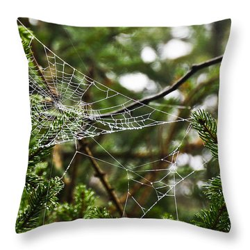 Collecting Raindrops Throw Pillow