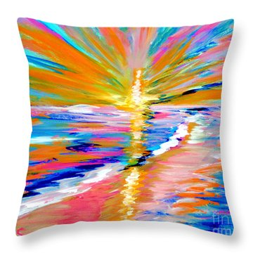Collection Art For Health And Life. Painting 5. Energy  Of  Life Throw Pillow