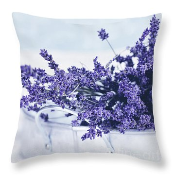 Throw Pillow featuring the photograph Collection Of Lavender  by Stephanie Frey