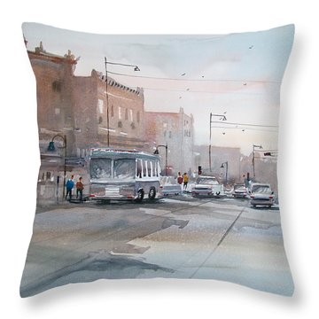 College Avenue - Appleton Throw Pillow