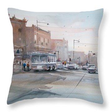 College Avenue - Appleton Throw Pillow by Ryan Radke