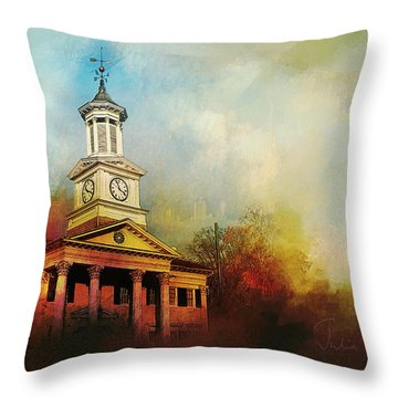 College Colors Throw Pillow