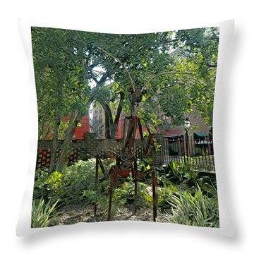 College Creature Throw Pillow