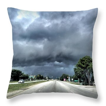 College Road Storm Throw Pillow
