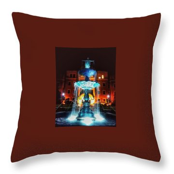 College Statue  Throw Pillow by Dustin Soph