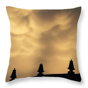 Collides With Beauty Throw Pillow