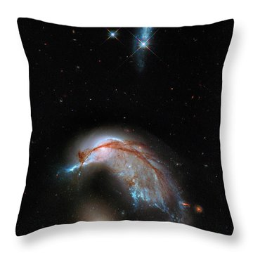 Throw Pillow featuring the photograph Colliding Galaxy by Marco Oliveira