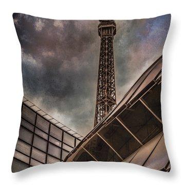 Paris, France - Colliding Grids Throw Pillow