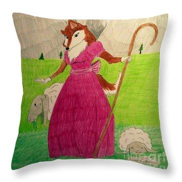 Collie Bo Peep Throw Pillow
