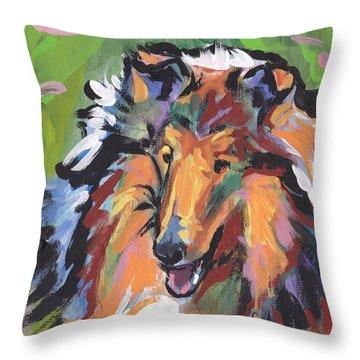 Collie Folly Throw Pillow by Lea S
