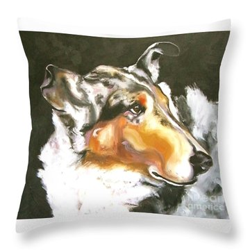Collie Merle Smooth 2 Throw Pillow