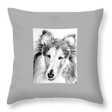 Collie Rough Lover Throw Pillow
