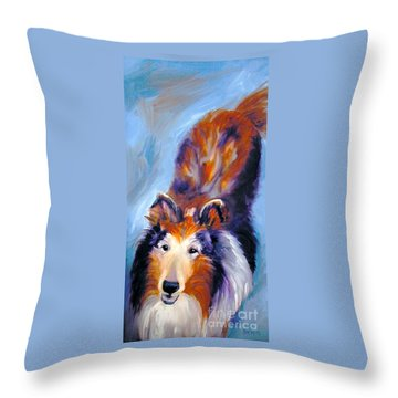 Collie Sable Rough 1 Throw Pillow