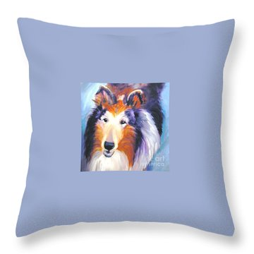 Collie Sable Rough 2 Throw Pillow