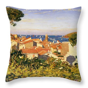Collioure Throw Pillow by James Dickson Innes