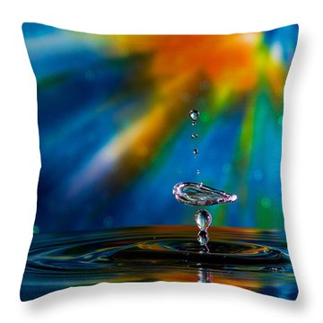 Collision 55 Throw Pillow
