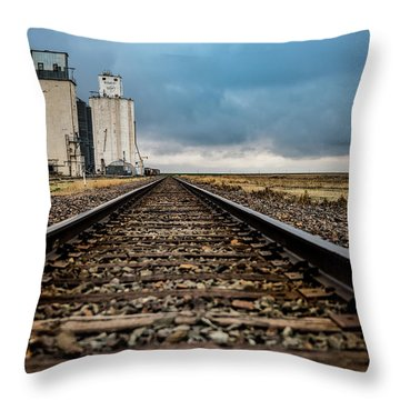 Throw Pillow featuring the photograph Collyer Tracks by Darren White