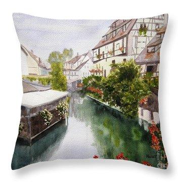 Colmar Canal Throw Pillow