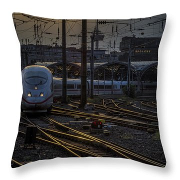 Cologne Central Station Throw Pillow
