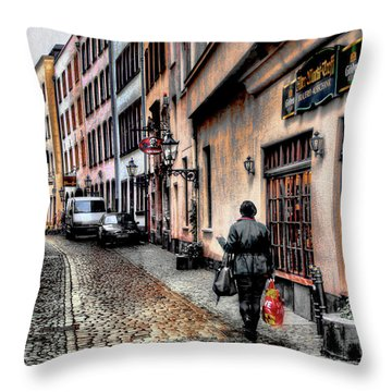 Cologne Alstadt Throw Pillow by Jim Hill