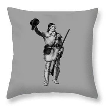 Colonel Davy Crockett Throw Pillow by War Is Hell Store
