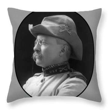 Colonel Roosevelt Throw Pillow