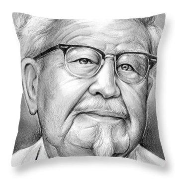 Colonel Sanders Throw Pillows Pixels
